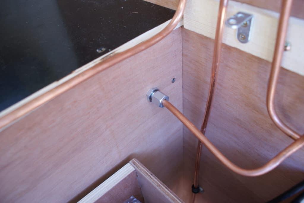 Installation gaz dans un fourgon