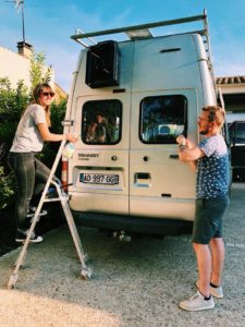 En direct du chantier The Travelling Shed