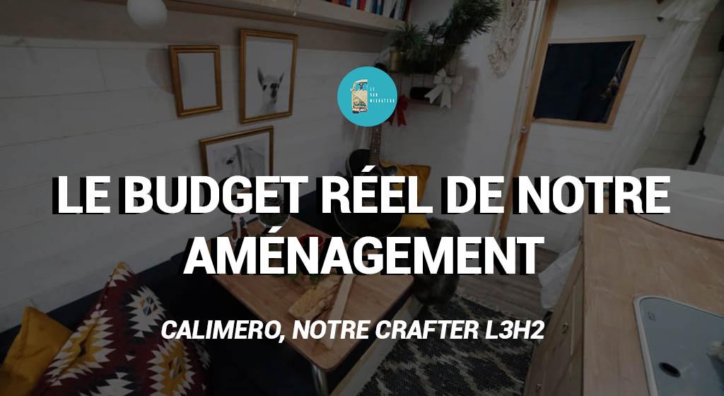 Budget de notre aménagement