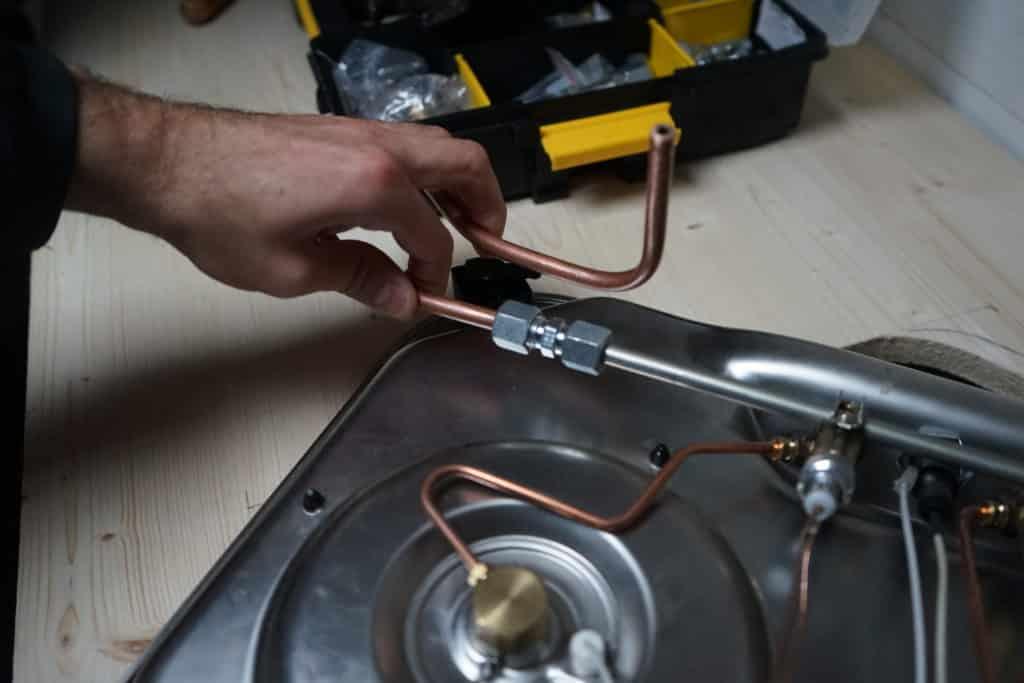 Cuivre cintré plaque de gaz
