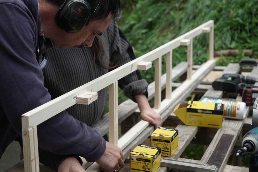 Fabrication meuble haut fourgon