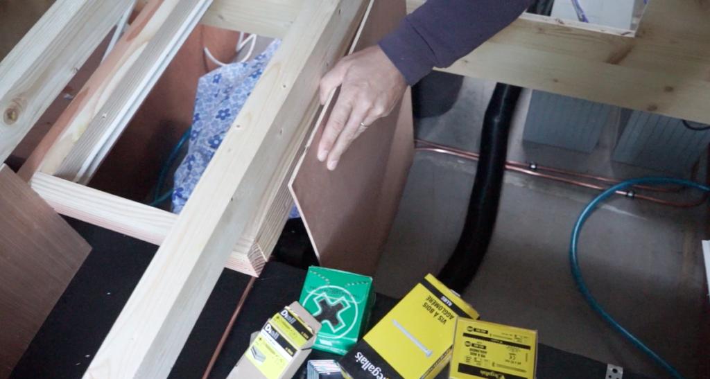 Séparation tiroir fourgon