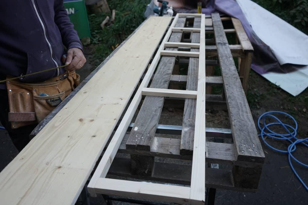 Structure meuble haut fourgon