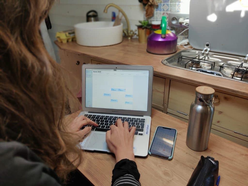 Vie de freelance en van